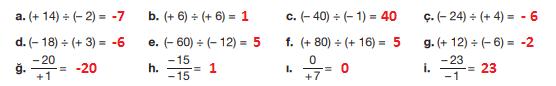 7. Sınıf Matematik Ders Kitabı Berkay Yayıncılık Sayfa 27 Ders Kitabı Cevapları