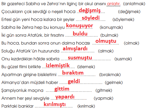 7. Sınıf Türkçe Ders Kitabı MEB Yayıncılık Sayfa 52 Ders Kitabı Cevapları -2